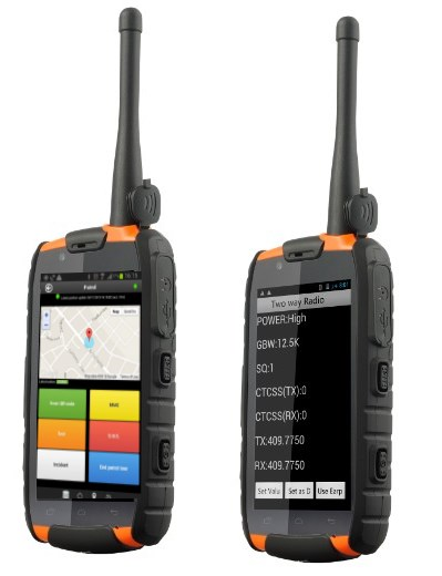 qr-patrol with walkie talkie android phone