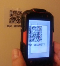 QRPatrol scanning QRCode tag check point