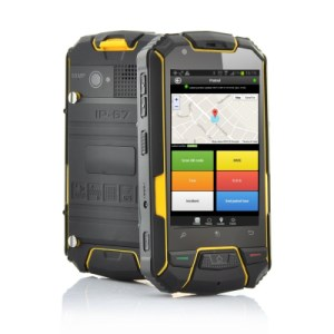Rugged Android phone running QR-Patrol